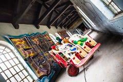 La sala de los niños abandonados espeluznantes Fotografía de archivo libre de regalías