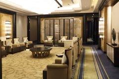 La sala de recepción del hotel Imagen de archivo
