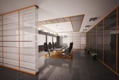 La sala de reunión 3d interior rinde Imágenes de archivo libres de regalías