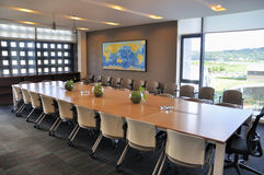 La sala del consiglio Immagine Stock