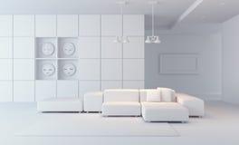 La sala di lusso 3d del salotto rende royalty illustrazione gratis