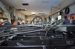 La sala macchine del bowling Immagini Stock