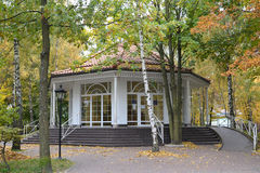 La sala pompe nella città di Svetlogorsk, Russia Fotografia Stock