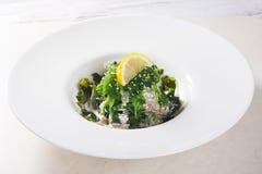 La salade de Chuka avec les graines de sésame, le citron et l'écrou sauce l'algue Image stock