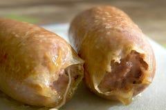 La salchicha de cerdo típica de día de fiesta del Año Nuevo llamó cotechino Fotografía de archivo libre de regalías