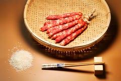 La salchicha en China meridional Imágenes de archivo libres de regalías