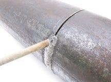 La saldatura del tubo. immagine stock