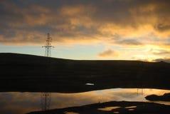 La salida del sol Foto de archivo libre de regalías