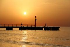La salida del sol Fotos de archivo