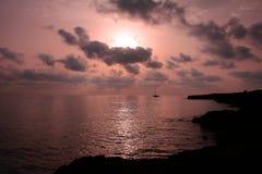 La salida del sol Fotos de archivo libres de regalías