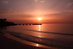 La salida del sol Imagen de archivo