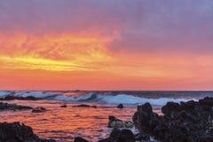 La salida del sol de Sandy Fotografía de archivo libre de regalías