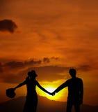 La salida del sol del amor Fotografía de archivo libre de regalías