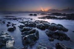 La salida del sol del océano Imagen de archivo