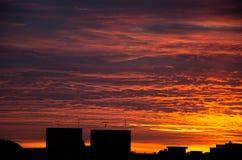 La salida del sol en Caxias hace Sul Fotografía de archivo