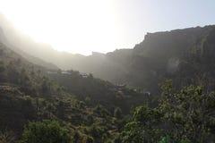La salida del sol más hermosa y más impresionante del Masca, Tenerife, España Foto de archivo