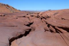 La salida en la cima del barranco del antílope en Arizona Imágenes de archivo libres de regalías