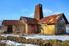 La salina en Drohobych, Ucrania, es la más vieja de Europa imagen de archivo libre de regalías