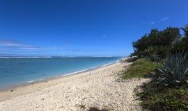 La Saline beach, La Reunion island, france. A view in LA SALINE, LA REUNION, FRANCE, MAY 02 :  La Saline beach, La Reunion island, Indian Ocean, may 02, 2016, in Royalty Free Stock Photo
