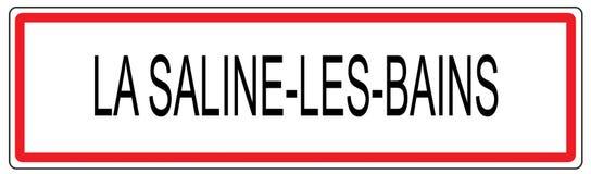 La Saline les Bains city traffic sign illustration in France Stock Image