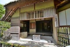 La salle antique de thé temple de bouddhiste zen de Kinkaku-JI kyoto japan photographie stock libre de droits