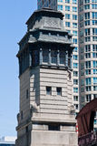 La Salle Bridge Chicago. Detail of La Salle Bridge tower in downtown Chicago, Illinois, United States Stock Images