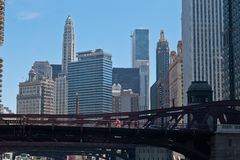 La Salle Bridge Chicago Stock Photography