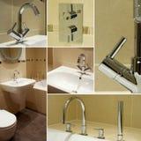 La salle de bains détaille le collage Image libre de droits