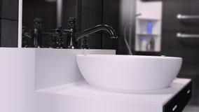 La salle de bains 3D int?rieur a rendu le fond d'illustration illustration de vecteur
