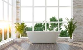 La salle de bains lumineuse moderne 3D rendent Photographie stock