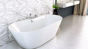 La salle de bains lumineuse moderne 3D rendent Photo libre de droits