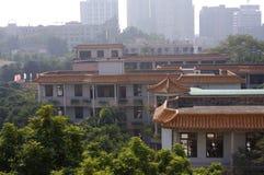 La salle de classe du collège en Chine Images libres de droits