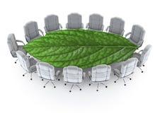 La salle de réunion verte Photos libres de droits