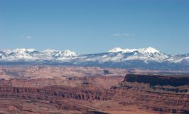 La Salle Mountains, Suset. La Salle Mountains from Dead Horse Point, Utah Royalty Free Stock Images