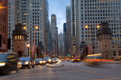 La Salle Street of Chicago. Stock Photos
