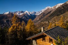 La salle,val aoste,italy Stock Photography