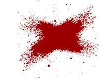 La salpicadura abstracta de la sangre pintó el fondo aislado IL foto de archivo libre de regalías