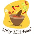La salsa di peperoncino rosso piccante della Tailandia illustrazione di stock