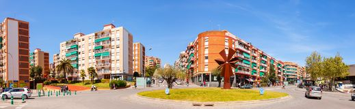 La Salut district of Badalona. Barcelona Royalty Free Stock Photography