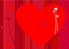 La salutation de Valentine Images stock