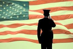 La salutation du soldat Photo libre de droits
