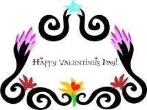 La salutation encadrée par jour heureux de Valentine illustration stock