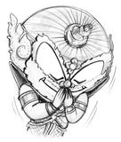La salutation thaïlandaise et vous remercient symbole de traditions Image stock