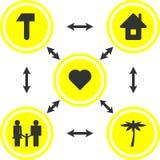 La salute e lo schema di vita illustrazione vettoriale