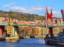 La Salve Bridge in Bilbao Royalty Free Stock Photo