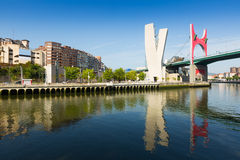 La Salve Bridge with Guggenheim Museum  in background. Bilbao Stock Photography