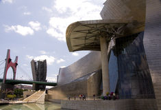 La Salve Bridge and Guggenheim Museum Bilbao Stock Images
