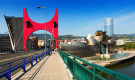 La Salve Bridge and Guggenheim Museum. Bilbao Stock Photos