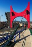 La Salve Bridge  in sunny day.  Bilbao,  Spain Stock Image