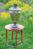 La samovar della Tabella fiorisce 1 Fotografia Stock Libera da Diritti